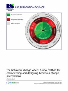 Wheel of behaviour change
